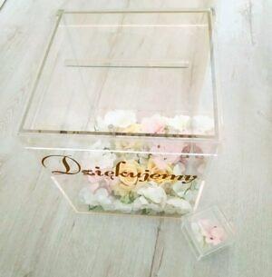 pudełko na koperty transparentne plexi