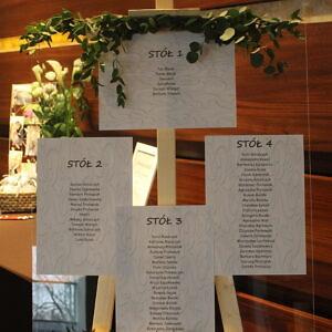 tablica na plan stołów